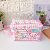 ko groihandel-My Melody Little Twin Sterne Cinnamoroll Pudding Dog Sumikko Cartoon Kosmetiktaschen Handtasche PU-Leder Reißverschluss Kulturaufbewahrungstasche