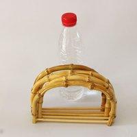 bolsos en línea al por mayor-10 unidades por lote Tamaño 18.5X12.5 CM Color de la naturaleza Manija del bolso de bambú Accesorios de bolso de bricolaje Bastón de madera Marco de China China 10