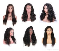 Wholesale 28 human hair lace wigs for sale - Group buy Brazilian Straight Human Hair Front Lace Wigs Body Loose Deep Wave Jerry Kinky Curly Full Lace Wigs Bleached Knots Human Hair Wigs Baby Hair