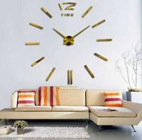 acryl blumenuhren großhandel-heißer verkauf stumm kreisförmige acryl wanduhr uhr wohnzimmer quarz dekoration uhren diy moderne blumen kostenloser versand