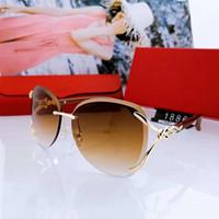 şekillendirici gözlükler toptan satış-Yaz Kadın Tasarımcı Güneş Plajı Güneş Adumbral Gözlüğü Güneş Gözlükleri UV400 Stil 1886 3 Renkler Box ile yüksek kalite