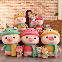 подушки из пенорезины оптовых-Плюшевые игрушки прелестный Piggy плюшевые куклы Мягкие чучела Pig Куклы Home Decor подарков 66CY