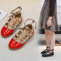 Wholesale footwear fashion heels resale online - Hot sale Girls Dress Shoes Kids Leather Children Footwear Fashion Casual Princess Dress Shoes Children Girl Shoes