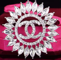 Wholesale mixed brooches silver for sale - Group buy Letter Design Brooches Crystal Brooches Silver Gifts Enamel Pins Laple Pins Exquisite Women Alloy Jewelry New Arrival