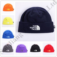 Wholesale hip hop winter caps resale online - Unisex Brand NF Hat The North Polar Fleece Winter Beanie Face Skull Caps for Men Women Outdoor Skiing Hats Warm Hip Hop Cap Ear Muff C9603