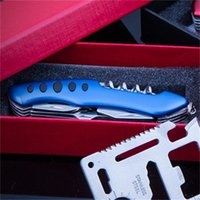 Wholesale self defense multi tool online - Portable Fruits Pocket Knife Multi Function Outdoor Tools Stainless Steel Gift Different Color Bottle Opener New Fashion hxH1