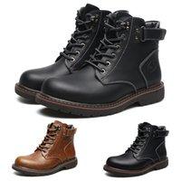 mens chaussures imperméables vente achat en gros de-Nouvelle vente toute la mode bottes Casual mens bottes coton bottes chaudes classiques marron noir chaussures imperméables chaussures de sport taille 40-44 formateurs