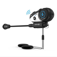 headsets für motorradhelme groihandel-VIMOTO V6 Bluetooth Intercom Motorradhelm Interphone Headset Wasserdichtes drahtloses Bluetooth Moto Headset Interphone DHL geben frei