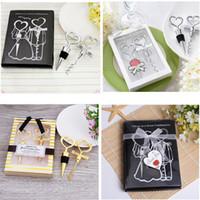 4 style Gift Box Wine Opener Wine Stopper Elegant Heart Shaped Bottle Opener Champagne Bottle Stopper Valentines Wedding Bar Accessories