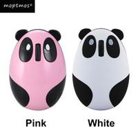 neuheit usb häfen großhandel-Nette drahtlose Mäusekarikatur-Panda-Minimaus Bluetooth wieder aufladbarer stiller USB-Hafen-Neuheit-tragbarer Computer