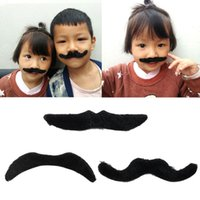 6707fa8b8bf9 5 PCS Adult Kids Fake Mustache Beard Whisker Costume Halloween Funny  Masquerade Party mascot on sale