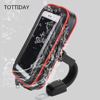 передвижная подставка для мотоциклов оптовых-Tottiday Мотоцикл Держатель Телефона Стенд 360 Вращающийся Moto Mobile Support Для Iphone Xs X 8 Plus S9 S8 S7 Крышка Водонепроницаемый Мешок J190508