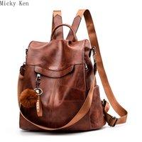 мягкая синтетическая кожаная сумка оптовых- Designer Women Backpack Soft Synthetic Leather Girl School Bag Female Shoulder Bag Purse Ladies Small Backpack