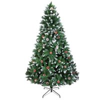Wholesale white christmas sprays resale online - Christmas Tree FT Branches Flocking Spray White Tree Plus Pine Cone