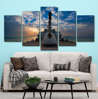 Wholesale sailing ship paintings for sale - Group buy Only Canvas No Frame Boat Sailing Ship Seascape Pictures Sunset Wall Art HD Print Canvas Painting Fashion Hanging Pictures