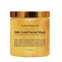 24k masken groihandel-Crystal Collagen Gold Gesichtsmaske für Frauen 24K Gold Collagen Peel Off Gesichtsmaske Gesichtshaut Feuchtigkeitsspendende Straffung