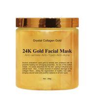 oro facial al por mayor-Crystal Collagen Gold Mascarilla facial para mujer Gold 24K Gold Collagen Mascarilla facial para pelar Piel facial Reafirmante hidratante