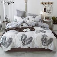 reina cama de los niños al por mayor-Hongbo de lujo de algodón de cristal de franela juego de cama con funda nórdica hoja de cama niños niños niña deja ropa de cama de invierno