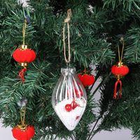 Wholesale plastic ball head resale online - 5PCS DIY Pointed Head Vertical Stripes Christmas Tree Ball Bauble Transparent Open Plastic Hanging Ornament