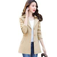 ingrosso più le misure korea di abbigliamento-Trench di moda per donna Cappotto invernale lungo Donna Corea Style OL Plus Size Casaco Abiti 2019 sobretudo feminino