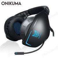 ingrosso giocatori auricolari-ONIKUMA K7 Casque PS4 Auricolari da gioco con microfono Wired PC Gamer Auricolari stereo Cuffie per New Xbox One / Laptop Tablet