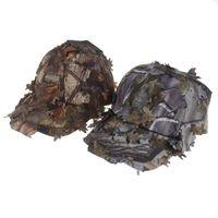 Wholesale leaves hats resale online - Outdoor Sport Snapbacks D Camouflage Fishing Hat Unisex CS Camping Jungle Bionic Leaves Cap Tactical Climbing Baseball Cap CCA11514