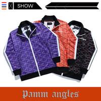 europäische trainingsanzüge großhandel-Die europäischen und amerikanischen beliebten Logo PALM ANGELS Trainingsanzug Casual Sports Letter Printing Stehkragen Jacke Männer und Frauen Designer Hosen