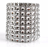 Wholesale wedding rhinestone decorations for napkins for sale - Group buy HOT Diamond Napkin Rings for Wedding Napkin Holders Rhinestone Chair Sashes Banquet Dinner Christmas Table Decoration Gold and Silver