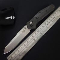 ingrosso coltelli veloci in tasca-Classico Nuovo Benchmade 940-1 Osborne Quick Folding Knife Stone Wash D2 Lama Manico in fibra di carbonio AXIS Lock Pieghevole BM940 M3310BK Coltello da tasca