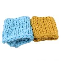 Wholesale new arrival photography props resale online - New Arrivals knitted Wool Crochet Baby Blanket Newborn Photography Props Chunky Knit Blankets Swaddling Nursery Bedding Blanket Basket Fil