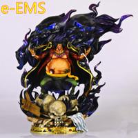 anime figuren harz großhandel-Anime EINTEILIG Sieben Kriegsherren des Meeres Blackbeard Marshall.D.Teach GK Resin Statue Action Figure Modell Spielzeug G2605