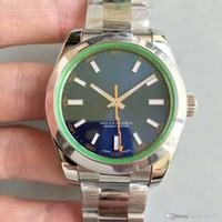 ingrosso prodotti inossidabili di qualità-2017 orologio meccanico automatico da uomo nuovo quadrante blu nero ad incandescenza equipaggiato con. Prodotti di alta qualità in acciaio inossidabile da 40 mm