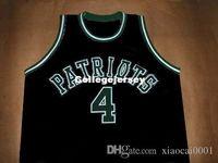 jersey des patriotes noirs achat en gros de-CHAUNCEY BILLUPS PATRIOTS HAUTE ÉCOLE JERSEY NOIR NOUVEAU TOUTE TAILLE XS - 5XL Retro Maillots