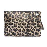 çanta çantası baskısı toptan satış-2018 Kış kadın zarf Leopar Baskı çanta kadın çanta deri tasarımcısı debriyaj çanta akşam kadın Gün Manşonlar # 645286