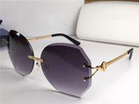 ingrosso taglio farfalla-New Brand Medusa Occhiali da sole da donna Farfalla Occhiali senza montatura Lenti in cristallo da taglio Eleganza d'avanguardia Protezione UV400 di alta qualità
