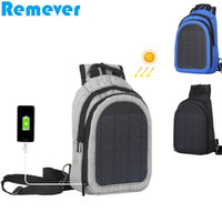 Wholesale 5v solar panel charger for sale - Group buy New Zipper Backpack Bags Shoulder Bags with W V A Solar Panel USB Charger for Mobile Phones Tablets
