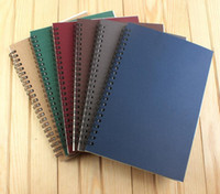 Wholesale school sketch book for sale - Group buy Portable Business kraft papers Notepads black drawing sketch Notebook Spiral bookbinding notebooks school office suppliers notes book