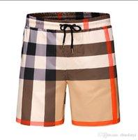 pantalones cortos para hombre 44 al por mayor-Venta al por mayor Pantalones cortos de moda de verano Nuevo tablero del diseñador de secado rápido SwimWear Junta de impresión Pantalones de playa Hombres para hombre Pantalones cortos de natación