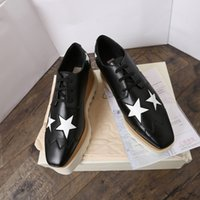 derby-star groihandel-Luxus-Britt echtes Leder Fashion Stella Schuh Elyse Brushed StarS Schuh-Plattform-Derby Keil-Plattform-Lace-up Flach McCartney Schuhe