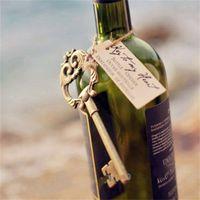 Wholesale antique key bottle opener favors resale online - Beer Festival Wedding Favors Party Gifts Key Bottle Opener Retro Antiquity Arts And Crafts Summer Party Hanging Card blb1