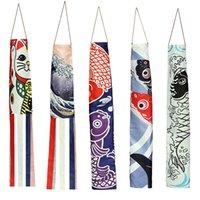 ingrosso bandiera giapponese-140 centimetri carpa giapponese Spray Pesci del fumetto Windsock Streamer Pesce Bandiera della decorazione della casa Koinobori aquilone colorato Windsock Carp Calzino di vento Flag