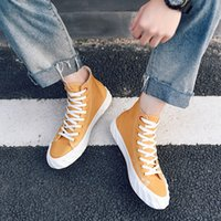 seilstiefel groihandel-2019 Hot Ins Seil soled Schuhe Korean Leinwand Skate Sneakers Ankle Boot Rugged Teenage Brett Schuhe Casual Trendy Ulzzang Plimsolls