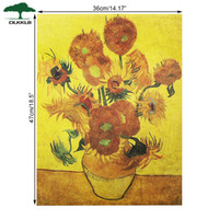 Wholesale bar wall canvas art for sale - Group buy Van Gogh Sunflower Modern Abstract Art Oil Painting On Canvas Bar Cafe Wall Decorative Wall Art Canvas Pictures