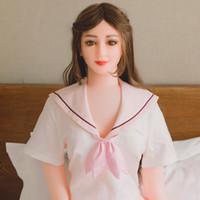 ingrosso bambole realistiche del sesso del silicone pieno formato-Janpanese Anime con il seno grande sex Real Dolls adulti realistica del sesso giocattoli per gli uomini Tpe sexy bambole di silicone a grandezza naturale con lo scheletro