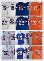 florida jerseys großhandel-NCAA Florida Herren Gators Tim Tebow Vintage Trikots genäht # 22 Emmitt Smith Florida Gators Trikot S-3XL