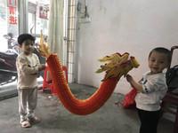 özel kağıtlar toptan satış-Ücretsiz kargo Ejderha dans Küçük kağıt ejderha Prop El Sanatları oyuncak Çin geleneksel hediye kağıt Kesme uzmanlık oyuncak