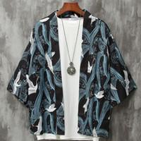 ingrosso yukata-Kimono cardigan uomo giapponese maschile obi yukata haori samurai giapponese abbigliamento abbigliamento tradizionale