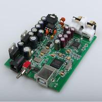 clase de audio usb al por mayor-Freeshipping NUEVO XMOS U8 + AK4490 AMP NE5532 USB DAC decodificador de sonido Tarjeta de Soporte de salida de auriculares para PCM 192 kHz DC9V