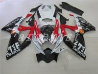 verkleidungssatz gsxr schwarz großhandel-Neue ABS-Verkleidungssätze passend für SUZUKI GSXR 600 750 K6 06 07 GSXR-600 GSXR750 GSXR600 GSXR-750 2006 2007 Cooles Rot-Schwarz-Weiß