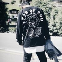 jesus hoodies venda por atacado-19FW Medo de Deus FOG manga comprida Natal de Jesus Cruz da religião Imprimir Rua T-shirt do pulôver Primavera Outono camisola Tee HFYMWY281